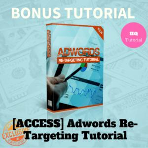 Bonus Adwords Re-targeting Tutorial