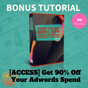 Bonus Get 90 % Off Your Adwords Spend