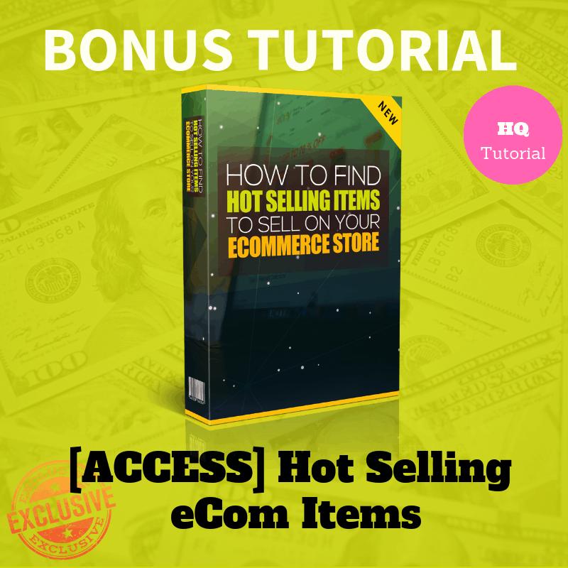 Bonus Hot Selling eCom Items