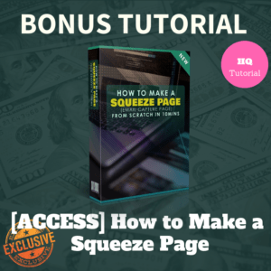 Bonus How to Make a Squeeze Page