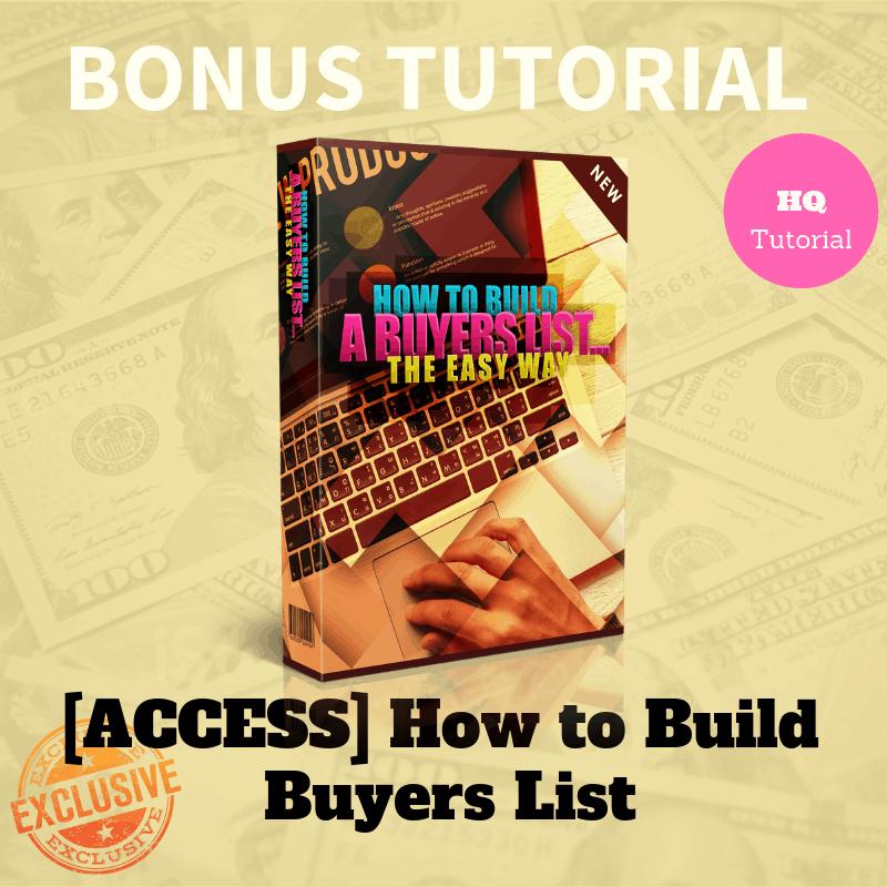 Bonus How to Build Buyers List