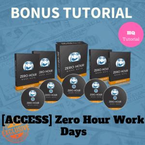Bonus Zero Hour Work Days